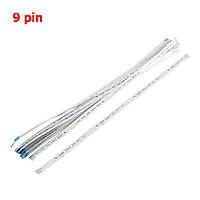 Гибкий шлейф 9 пин 0.5mm Pitch 9 Pin AWM 20624 80C 60V VW-1 Flexible Flat Cable FFC 200m
