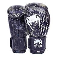 Перчатки боксерские кожаные VENUM черные 10,12 oz
