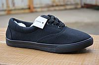 Женские кеды мокасины низкие аналог ванс vans black черные