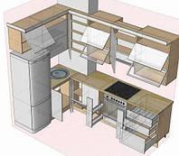 Виготовлення кухні під замовлення в розмір приміщення, фото 1