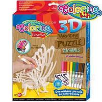 Набор для творчества 3D пазлы деревянные Бабочка (наклейки, 8 , 38355PTR