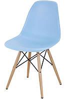Стул Тауэр Вуд пластиковый на деревянных ножках, голубой SDMРС016WBLU 54*46,5*80,5, высота сиденья 42 см