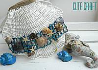 Декоративная раковина с игрушками ocean world