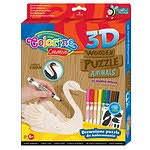 Набор для творчества 3D пазлы деревянные Лебедь (наклейки, 8 фломастеров) , 38324PTR