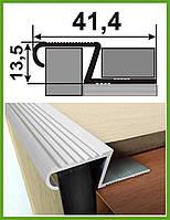 Алюминиевый рифленный Z-профиль для плитки  Анод