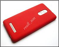 Красный мягкий матовый чехол для Xiaomi Redmi Note 3 Pro SE 3i, TPU бампер накладка