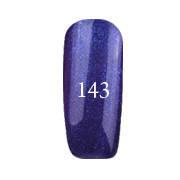 Гель-лак FOX Pigment № 143 (сине-фиолетовый с блестками),12 мл