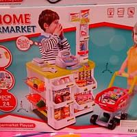 Детский игровой супермаркет для мальчиков и девочек с музыкальными световыми эффектами.