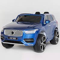 Детский электромобиль Джип VOLVO M 3278 EBLRS-4 с кожаным сиденьем, синий***