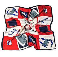 Шейный платок Камилла из вискозы и шелка, 70х70 см, красный, аксессуары