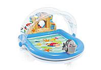"""Игровой центр-бассейн Intex 57421""""Оазис""""155*130*84см с фонтанчиком, игрушками и навесом ***"""
