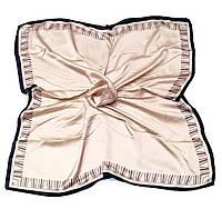 Шейный платок Камилла из вискозы и шелка, 70х70 см, бежевый