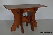 Стол раскладной МЕТЕЛИК цвет орех лесной