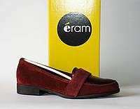 Женские туфли лоферы Eram натуральная замша кожа 36