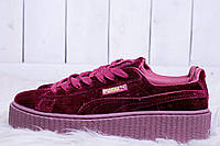 Кроссовки женские Puma x Fenty by Rihanna Velvet Creeper-Royal Purple (пума риана криперы) (реплика)