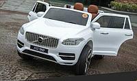 Детский электромобиль Джип VOLVO  M 3278 EBLR-1 с кожаным сиденьем, белый***