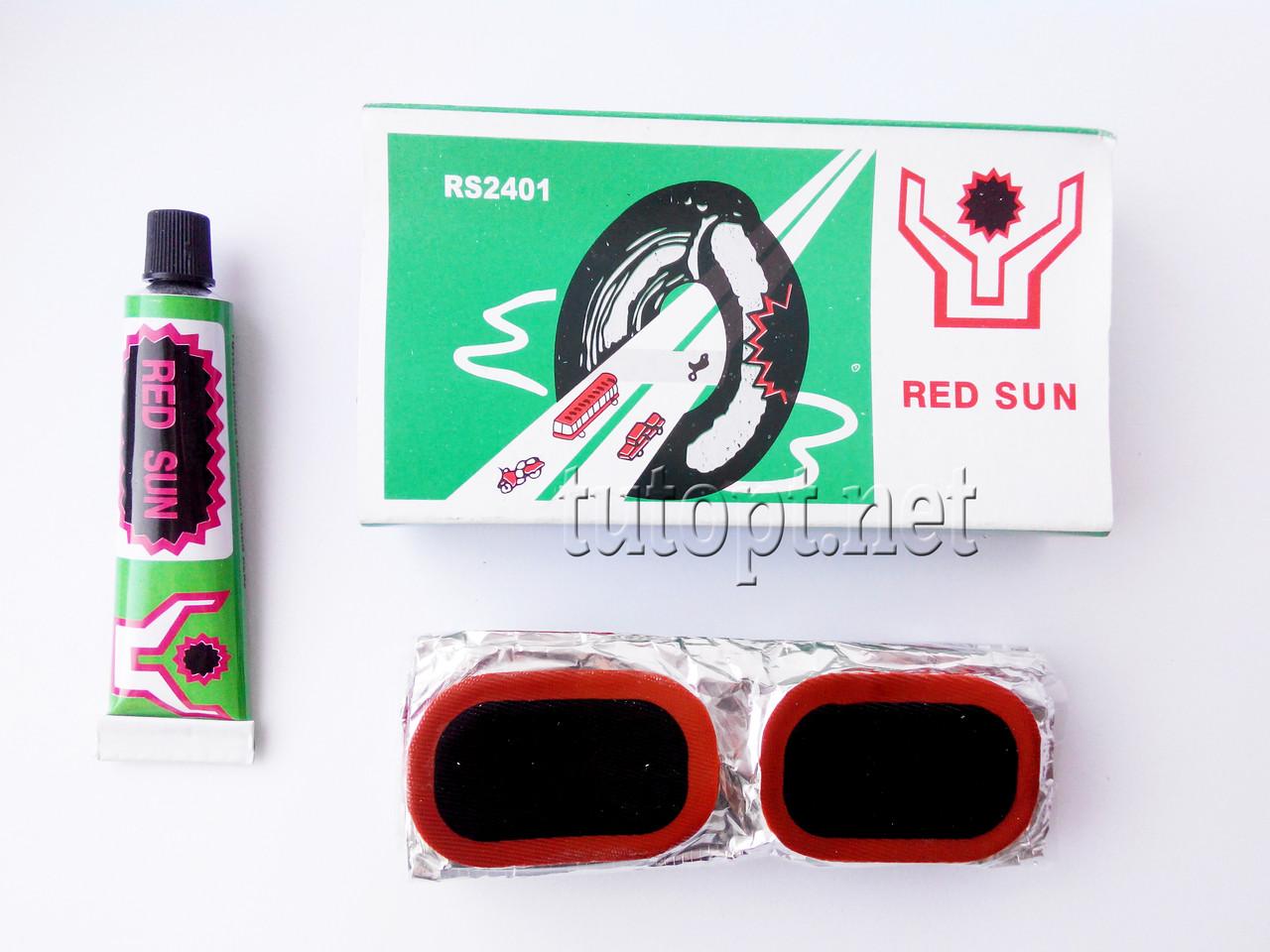 """Латки с клеем """"RED SUN"""" для вело камеры и матрасов RS2401"""
