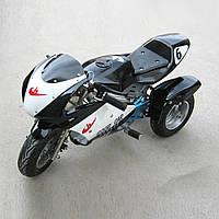 Трёхколёсный детский электромотоцикл HL-Е69 24 v 350 w черный***