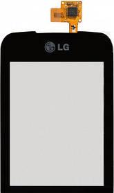 Тачскрин (сенсор) LG C660, black (чёрный)