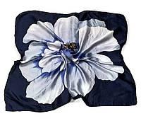 Шейный платок Камилла из вискозы и шелка, 70х70 см, графит, азалия