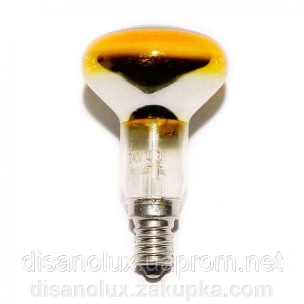 Лампа рефлекторная R50 40вт Е14  желтая
