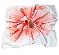 Шейный платок Камилла из вискозы и шелка, 70х70 см, коралл, азалия