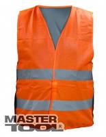 MasterTool Жилет со светоотражающей лентой оранжевый Жилет со светоотражающей лентой оранжевый 83-0002
