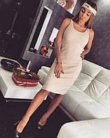 Платье без рукав чалма трикотаж