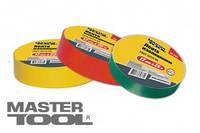MasterTool ЛЕНТА ИЗОЛЯЦИОННАЯ ЦВЕТНАЯ Лента изоляционная 0,15 мм,17 мм*10 м, 10 шт, синяя 44-9010
