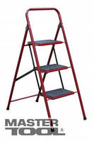 """MasterTool Лестница """"СЕМЬЯ"""" Лестница-стремянка металлическая 3 ступени с ковриком, 760 мм 79-1033"""