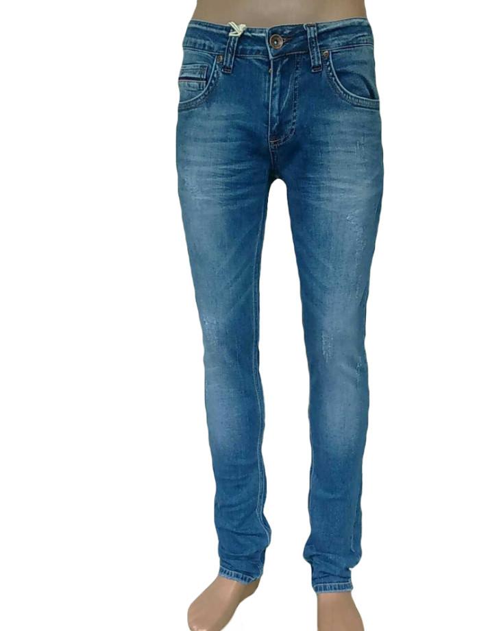 Джинсы мужские рваные от Franco Benussi 17-144 синие