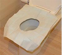 Накладки на крышку унитаза одноразовые бумажные 10 шт/уп.
