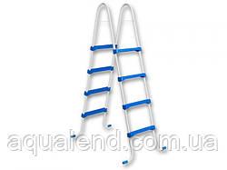 Лестница для каркасного сборного бассейна 4 ступени высотой 1,2м Azuro из пластика Safety Family Ladder