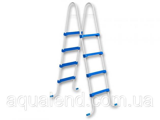 Лестница для каркасного сборного бассейна 4 ступени высотой 1,2м Azuro из пластика Safety Family Ladder, фото 2