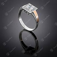 Серебряное кольцо с цирконом. Артикул П-380
