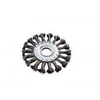 MasterTool Щетка дисковая из плетённой проволоки; отверстие- 22,2мм Щетка дисковая из плетённой проволоки (отверстие 22,2мм) 19-9011