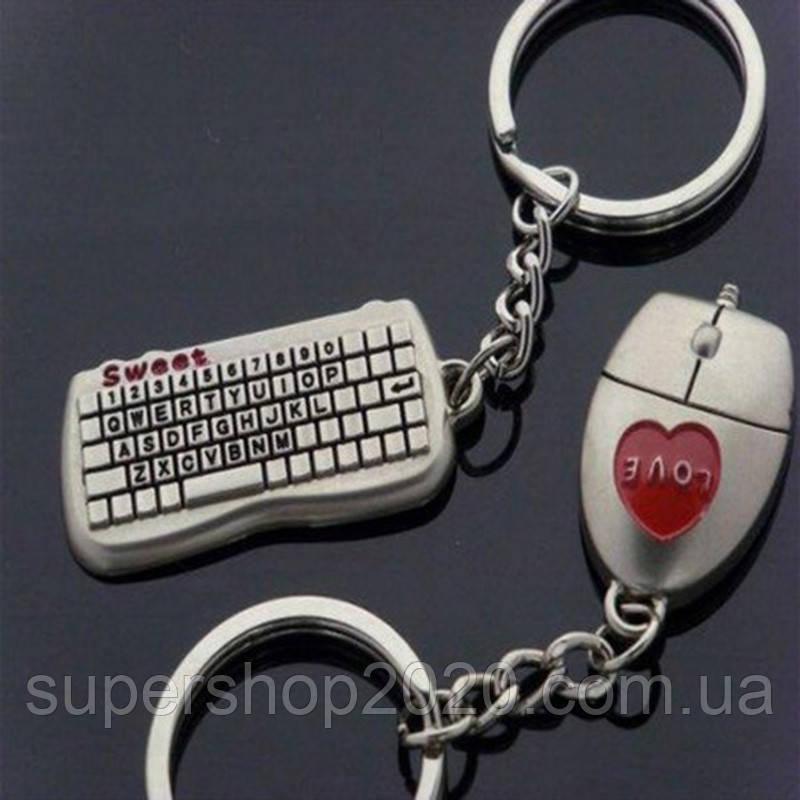 """Брелки для закоханих """"Мишка і Клавіатура"""""""