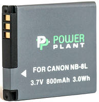 Аккумулятор PowerPlant Canon NB-8L 800mAh