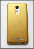 Золотистый мягкий чехол для Xiaomi Redmi Note 3 Pro SE, TPU бампер накладка