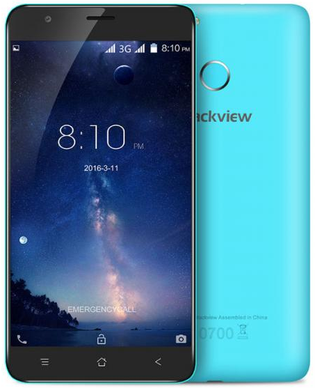 "Blackview E7S Blue 2/16 Gb, 5,5"", MT6580, 3G"