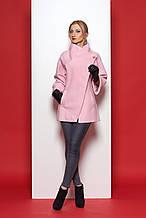 Стильное пальто из эко-шерсти
