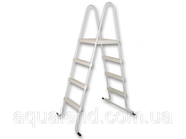 Лестница стремянка стальная для каркасного сборного бассейна 4 ступени высотой 1,2м Azuro De Luxe