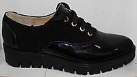 Женские туфли на шнурках на толстой подошве, женские туфли от производителя модель Л340, фото 1