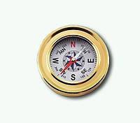 Металлический компас без крышки Gold J-57