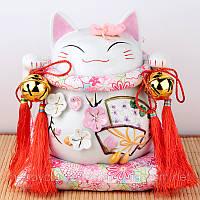 Манэки-нэко «Цветущая сакура» - подарок-талисман, фото 1