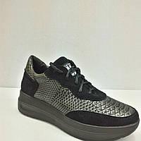 Модные женске осенние слипоны ботиночки кожа код 615