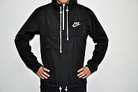 Анорак мужской НАЙК ветровка, курточка (черный)