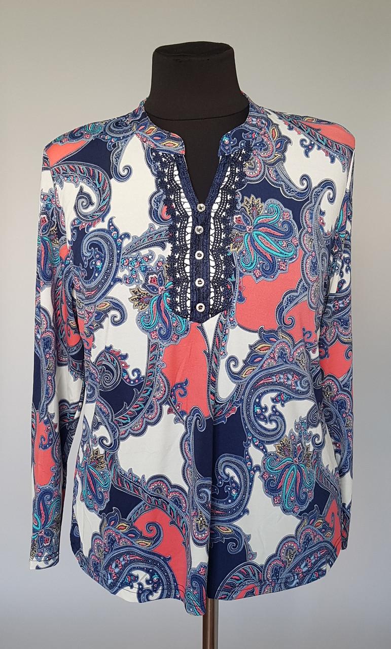 Стильна жіноча блузка з довгим рукавом