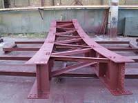 Металлоконструкции - узел крепления балки, надколонника и колонны