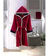 Красный махровый халат   для девочек 12-14 лет